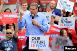 U.S. Rep. Tim Ryan speaks as he launches his campaign as a Democratic presidential candidate