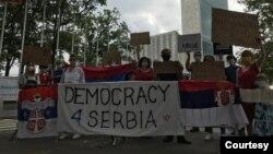 Treći protest srpskih iseljenika u Njujorku, 8. avgusta 2020.