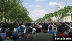 عکس آرشیوی از تجمع اعتراضی کشاورزان اصفهان