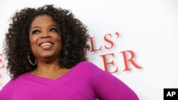 FILE - Oprah Winfrey.