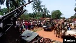 Des soldats de la Séléka à Bangui, en mars 2013