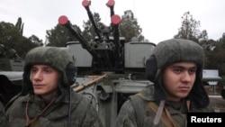 Ruski marinci učestvuju u vojnoj paradi u Sevastopolju na Krimu. 29. novembar 2014.
