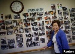 85岁的原子弹幸存者加藤真纪子
