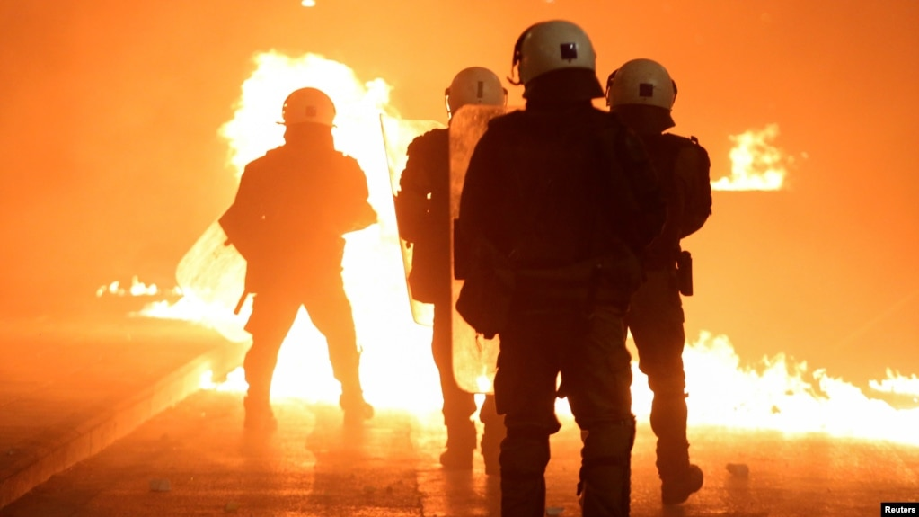 Greek Police Clash with Protesters on Anniversary of Police Shooting of Teenager