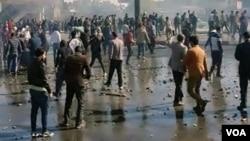 تصویری از اعتراضات در کرمانشاه
