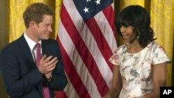 شہزادہ ہیری اور امریکی خاتون اول مشیل اوباما