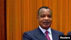 Le président Denis Sassou Nguesso de la république du Congo