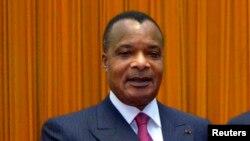 Denis Sassou Nguesso, le président sortsnt du Congo