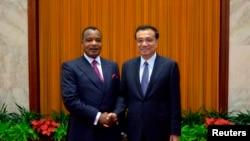 Denis Sassou nguesso na ministri w'intebe w'Ubushinwa Li Keqiang