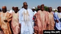 Wasu shugabannin APC da Janar Buhari.