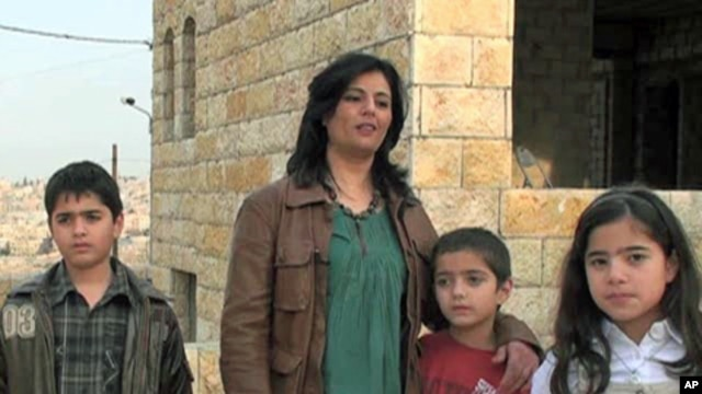 Shahinda El Kilani and her family in Amman, Jordan
