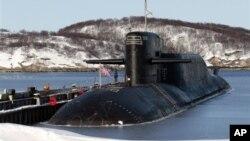 Одна из атомных подводных лодок ВМФ России (архивное фото)