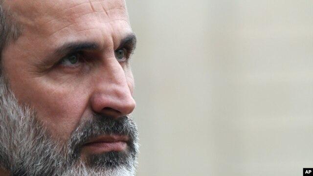 Chủ tịch Liên minh đối lập mới tại Syria Mouaz al-Khatib.