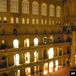 夜晚的国家建筑博物馆