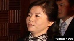 미-북 간 싱가포르 회동에 참석한 최선희 북한 외무성 미국국 부국장. (자료사진)