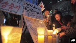지난해 서울에서 북한 인권 개선을 촉구하며 열린 시위. (자료사진)