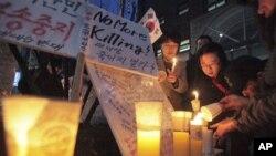 지난해 3월 서울에서 열린 북한 인권 개선 촉구 시위. (자료사진)
