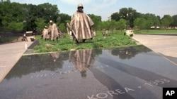 미국 수도 워싱턴의 한국전 참전용사 기념공원. (자료사진)