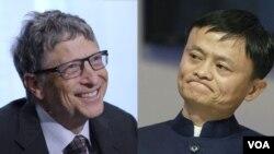 Tỷ phú Bill Gates (trái) và doanh nhân Jack Ma.