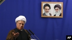 Ali Akbar Hashemi Rafsanjani (file photo)