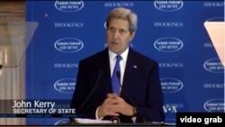 美国国务卿克里(VOA视频截图)