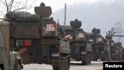 Južnokorejski vojnici na vežbama u blizini demilitarizovane zone, 4. april, 2013.