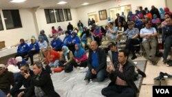 """Para pendukung Capres 02 menghadiri acara """"Sarasehan Akal Sehat"""" di pinggiran Washington DC, 3 April 2019."""