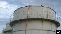 Bồn chứa bị rò rỉ tại nhà máy hạt nhân Dai-ichi Fukushima.