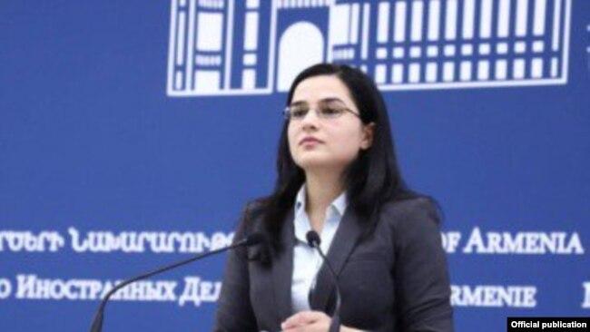 Anna Naqdalyan, Ermənistan Xarici İşlər Nazirliyinin mətbuat katibi