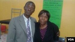Lotto winner, Nobert Elvis Kufakunesu and his wife, Edith.