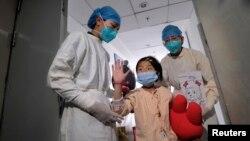 L'unité de soins intensifs de l'hôpital Ditan de Pékin où des personnes affectées par le virus de la grippe aviaire H7N9 sont soignées, le 15 avril 2013