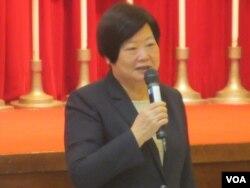 台灣行政院政務委員林美珠(美國之音張永泰拍攝)