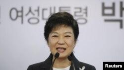 한국의 박근혜 대통령 당선인. (자료사진)