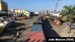 Porto de Lobito, em Benguela