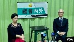 中國維權律師關注組創會成員、香港大律師張耀良9月25日接受民主黨前主席劉慧卿網台節目訪問,談及12名被扣押深圳市鹽田看守所港人的情況,認為並不樂觀。(美國之音湯惠芸)