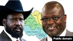 South Sudan President Salva Kiir (L) and opposition leader Riek Machar (R) both call for peace in messages released on New Year's Eve.