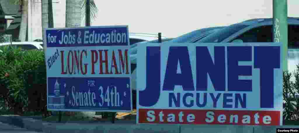 Vận động tranh cử tại quận Cam