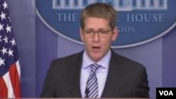 白宫发言人卡尼证实奥巴马总统今天会晤昂山素季(美国之音视频截图)