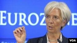 Direcktur IMF Christine Lagarde. Laporan IMF mengingatkan pentingnya AS untuk segera mengatasi krisis utangnya.