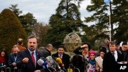 سخنگوی ائتلاف ملی سوریه در کنفرانس ژنو - پانزدهم فوریه