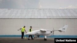 Misi perdamaian PBB hari Selasa (3/12) meluncurkan dua pesawat tanpa awak di Republik Demokratik Kongo/ DRC (foto: dok).