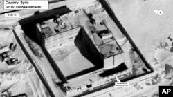 Tấm không ảnh chụp ngày 15/6/2015 do Bộ Ngoại giao Mỹ và DigitalGlobe công bố về địa điểm được cho là lò hỏa táng tại nhà tù Sednaya, Syria.