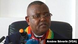 Christian Roger Okemba à Brazzaville, le 3 mars 2019. (VOA/Arsène Séverin)