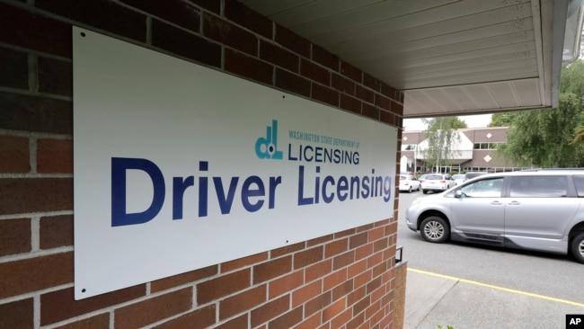 Tempat pembuatan SIM di Negara Bagian Washington.