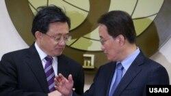 한국을 방문한 류전민 중국 외교부 부부장이 지난 21일 이경수 한국 외교부 차관보와 외교회담을 가졌다.