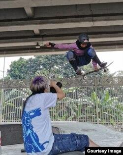 Nyimas Bunga Cinta, 15 tahun, latihan skateboard sejak usia 8 tahun. (foto: courtesy)