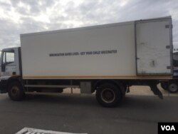 Vehicles ferrying Sinopharm COVID-19 vaccine to storage facilities in Harare. (Photo: Rutendo Mawere)