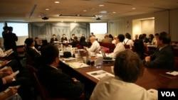 中国法官代表团在华盛顿威尔逊国际访问学人中心举办的研讨会