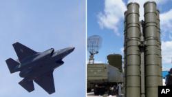 AQShning F-35 samolyoti va Rossiyaning S-400 mudofaa tizimi bir suratda