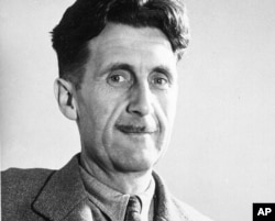 "FILE - Author George Orwell's ""1984"" has climbed back up the bestseller lists."